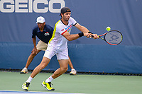 Washington, DC - August 3, 2019:  Jean-Julien Rojer (NED) leans to hit the ball during the  Men Doubles semi finals at William H.G. FitzGerald Tennis Center in Washington, DC  August 3, 2019.  (Photo by Elliott Brown/Media Images International)