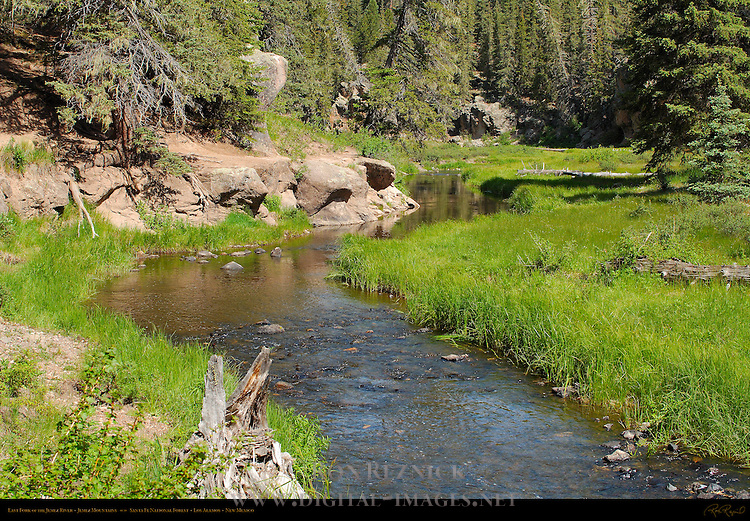 East Fork of the Jemez River, Jemez Mountains, Santa Fe National Forest, Los Alamos, New Mexico
