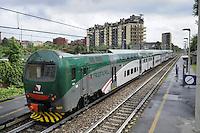 - Trenord, ferrovie regionali della Lombardia, stazione di Milano Porta Romana<br /> <br /> - Trenord, regional railways of Lombardy, station of Milan Porta Romana