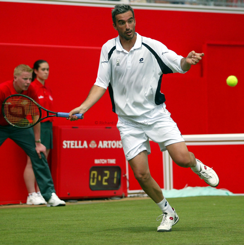 Photograph: Scott Heavey..Day 2 of the Stella Artois Championship at the Queens Club. 10/06/2003..Davide Sangunetti