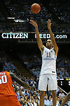 30 December 2015: North Carolina's Brice Johnson. The University of North Carolina Tar Heels hosted the Clemson University Tigers at the Dean E. Smith Center in Chapel Hill, North Carolina in a 2015-16 NCAA Division I Men's Basketball game. UNC won the game 80-69.