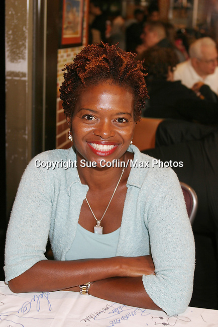"LaChanze - One Life To Live - ""Yvette Moreau"" at The 26th Annual Broadway Flea Market and Grand Auction to benefit Broadway Cares/Equity Fights Aids on September 23, 2012 in Shubert Alley and Times Square, New York City, New York.  (Photo by Sue Coflin/Max Photos)"