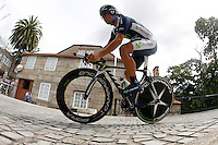 Jonathan Castroviejo during the stage of La Vuelta 2012 between Cambados and Pontevedra.Individual Time Trials.August 29,2012. (ALTERPHOTOS/Paola Otero) /Nortephoto.com<br />