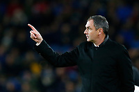 Swansea City manager Paul Clement points upwards during the Premier League match between Burnley and Swansea City at Turf Moor, Burnley, England, UK. Saturday 18 November 2017
