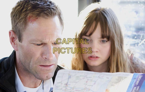 Aaron Eckhart, Liana Liberato<br /> in Erased (2012) <br /> (The Expatriate)<br /> *Filmstill - Editorial Use Only*<br /> CAP/FB<br /> Image supplied by Capital Pictures