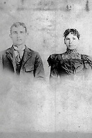 Pius Gallitzin Litzinger (1874) and Blanche (Dennison) Litzinger (1877) -  wedding picture?  -  1892?<br /> <br /> <br /> <br /> Conrad&gt;Leonard&gt;John&gt;John&gt;Pius Gallitzin