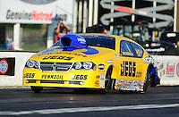 May 4, 2012; Commerce, GA, USA: NHRA pro stock driver Jeg Coughlin during qualifying for the Southern Nationals at Atlanta Dragway. Mandatory Credit: Mark J. Rebilas-