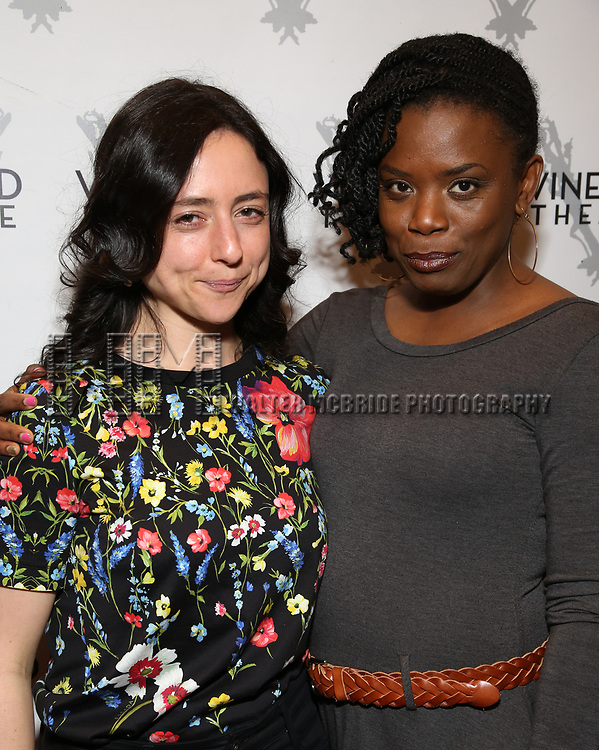 "Danya Taymor and Antoinette Nwandu attending the Opening Night Performance for The Vineyard Theatre production of  ""Do You Feel Anger?"" at the Vineyard Theatre on April 2, 2019 in New York City."