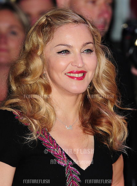 """Madonna arrives for the premiere of """"W.E."""", as part of the London Film Festival 2011, at the Vue West End, London. 23/10/2011 Picture by: Simon Burchell / Featureflash"""