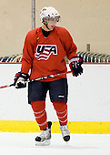 Mitch Wahl (US Blue - 22) -  US players take part in practice on Friday morning, August 8, 2008, in the NHL Rink during the 2008 US National Junior Evaluation Camp and Summer Hockey Challenge in Lake Placid, New York.