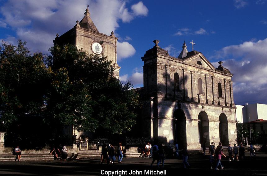 La Iglesia de la Inmaculada Concepcion, an 18th-century church on the Parque Central in Heredia, Costa Rica