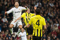 Cristiano Ronaldo fighting for aerial ball