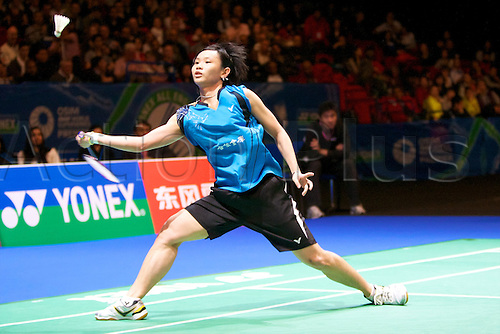 10.03.2012 Birmingham, England. Tai Tzu Ying (TPE) in action during the Yonex All England Open Badminton Championships at the National Indoor Arena.