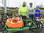Anthony, Ciaran and Seamus Connor from Pedal Power Delivery who took part in the Duleek Parish annual spotive cycle inn aid of Duleek National School. Photo:Colin Bell/pressphotos.ie