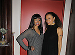 """One Life To Live Valarie Pettiford """"Sheila Price"""" and Another World """"Det. Courtney Walker"""" poses with her sister Atonia as Valarie performs (sings) as a part of Jamie deRoy & friends on December 28, 2012 at the Metropolitan Room, NYC, NY. (Photo by Sue Coflin/Max Photos)"""
