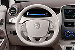 Car pictures of steering wheel view of a 2017 Renault ZOE Bose Edition 5 Door Hatchback