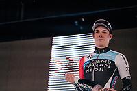 Jasper Philipsen (BEL/Hagens Berman Axeon) finishes 3rd<br /> <br /> Driedaagse Brugge-De Panne 2018<br /> Bruges - De Panne (202km)