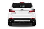 Straight rear view of a 2014 Hyundai Santa Fe GLS 5 Door SUV Rear View  stock images