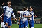 Fabio Quagliarella of Sampdoria celebrates with team mates after scoring a penalty to give the side a 3-1 lead during the Serie A match at Stadio Grande Torino, Turin. Picture date: 8th February 2020. Picture credit should read: Jonathan Moscrop/Sportimage