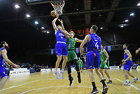 Rob Loe takes a rebound during the national basketball league match between Cigna Wellington Saints and Manawatu Jets at TSB Bank Arena in Wellington, New Zealand on Sunday, 30 June 2019. Photo: Dave Lintott / lintottphoto.co.nz