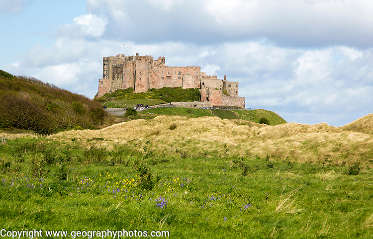 Bamburgh castle, Northumberland, England, UK