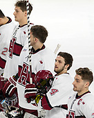 Wiley Sherman (Harvard - 25), Merrick Madsen (Harvard - 31), Alexander Kerfoot (Harvard - 14), Devin Tringale (Harvard - 22) - The Harvard University Crimson defeated the Air Force Academy Falcons 3-2 in the NCAA East Regional final on Saturday, March 25, 2017, at the Dunkin' Donuts Center in Providence, Rhode Island.