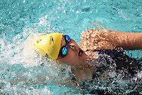 BERKELEY, CA - December 21, 2016: Cal Bears Women's Swimming team vs. the San Jose State Spartans at Spieker Aquatics Complex.  Final score, Cal Bears 178, San Jose State Spartans 113.