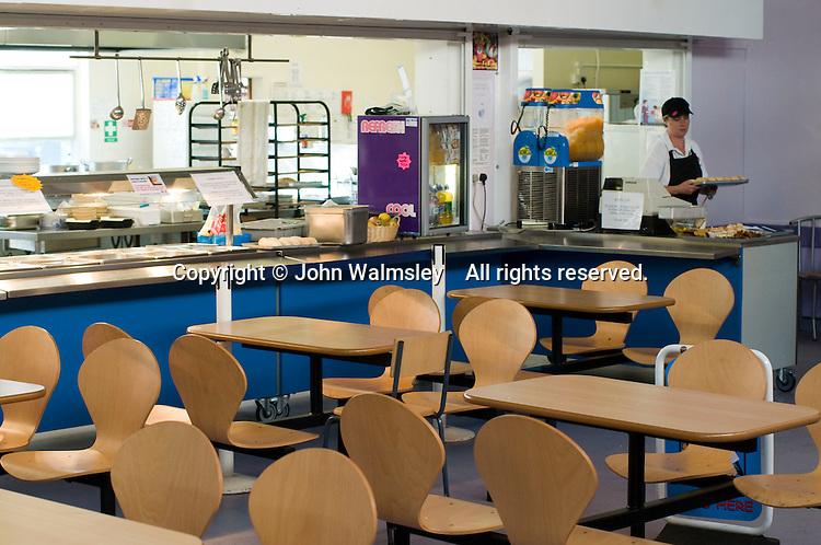 State secondary school.  Empty school canteen..