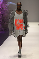 Melbourne, September 7, 2018 - A model wearing Zambesi walks at the Town Hall Runway Seven show in Melbourne Fashion Week in Melbourne, Australia. Photo Sydney Low