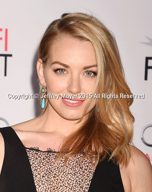HOLLYWOOD, CA - NOVEMBER 10: Actress Sara Lindsey attends AFI FEST 2015 presented by Audi Centerpiece Gala Premiere of Columbia Pictures' 'Concussion' at TCL Chinese Theatre on November 10, 2015 in Hollywood, California.