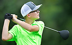 Owen Sanders watches his ball after teeing off on the first day of the Metropolitan Amateur Golf Association's 20th Junior Amateur Championship being held at the St. Clair Country Club in Belleville, IL on July 1, 2019. <br /> Tim Vizer/Special to STLhighschoolsports.com