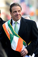 www.acepixs.com<br /> March 17, 2017  New York City<br /> <br /> Governor Andrew Cuomo at the St Patrick's Day Parade on March 17, 2017 in New York City.<br /> <br /> Credit: Kristin Callahan/ACE Pictures<br /> <br /> <br /> Tel: 646 769 0430<br /> Email: info@acepixs.com