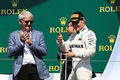 June 11th 2017, Circuit Gilles Villeneuve, Montreal Quebec, Canada; Formula One Grand Prix, Race Day; Valtteri Bottas - Mercedes AMG Petronas 2nd on podium