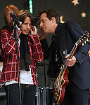 "NEW YORK, NY - JUNE 14:  Kelly Hansen; Michael Bluestein of Foreigner performs at ""FOX & Friends"" All American Concert Series outside of FOX Studios on June 14, 2013 in New York City.  (Photo by Walter McBride/FilmMagic)"