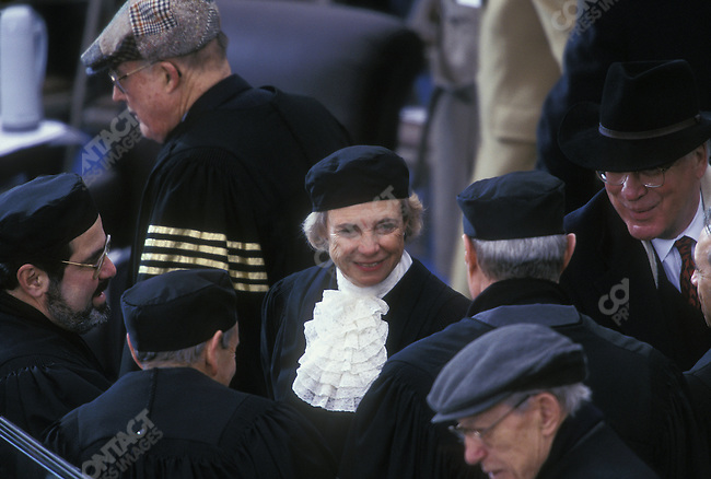 US Supreme Court Justice Sandra Day O'CONNOR (center), at President Bill Clinton's second term inauguration ceremony. Washington, D.C., January 1997.