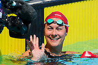 Picture by Alex Whitehead/SWpix.com - 05/04/2018 - Commonwealth Games - Swimming - Optus Aquatics Centre, Gold Coast, Australia - Aimee Willmott of England following the Women's 400m Individual Medley heats.