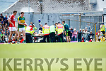 Fionn Fitzgerald Kerry who was injured in the Munster Senior Football Final at Fitzgerald Stadium on Sunday.