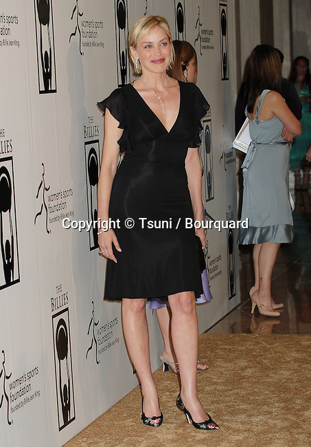 Sharon Stone  arriving at THE BILLIES Awards, Women in Sports at the Beverly Hilton in Los Angeles.<br /> <br /> full length