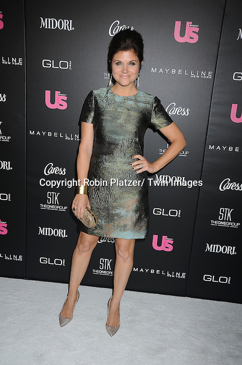 Tiffani Thiessen in Pamila Rolland dress attends the party given by US Weekly which honors the  25 Most Stylish New Yorkers of 2012 on September 12, 2012 at STK Midtown in New York City.