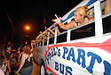 A party bus passes as the music scene on Frenchmen Street is thriving in New Orleans after Hurricane Katrina, July 16, 2007..(CHERYL GERBER PHOTOS).
