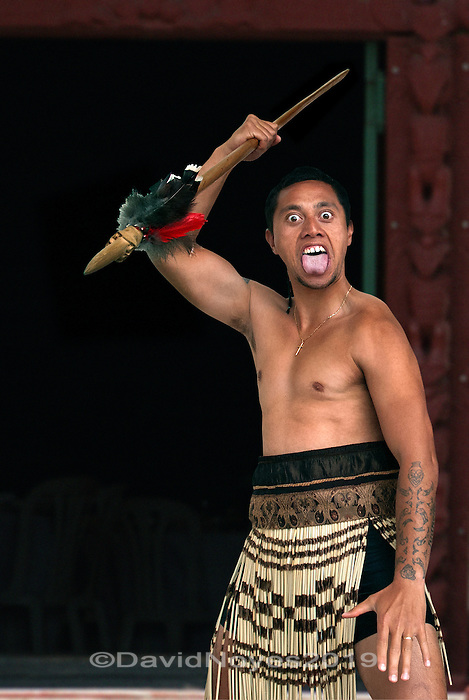 The wero is an aggressive challenge of the visitor at the beginning of the welcome ceremony, known as the pōwhiri. 