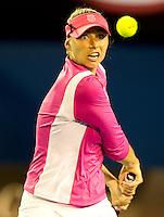 Vera Zvonareva (RUS) (9)against Victoria Azarenka (BLR) (7) in the Fourth Round of the Womens Singles. Azarenka beat Zvonereva 4-6 6-4 6-0..International Tennis - Australian Open Tennis - Monday 25 Jan 2010 - Melbourne Park - Melbourne - Australia ..© Frey - AMN Images, 1st Floor, Barry House, 20-22 Worple Road, London, SW19 4DH.Tel - +44 20 8947 0100.mfrey@advantagemedianet.com