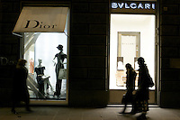Shopping in Via de' Tornabuoni, Firenze.<br /> Shopping in Via de' Tornabuoni, Florence.<br /> UPDATE IMAGES PRESS/Riccardo De Luca