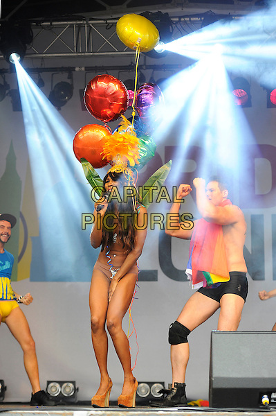 LONDON, UK, JUNE 28: Sinitta (Sinitta Renay Malone) performs live on stage at Pride London in Trafalgar Square on June 28th 2014 in London, England, UK.<br /> CAP/MAR<br /> &copy; Martin Harris/Capital Pictures