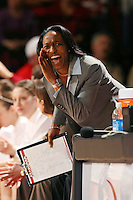 30 December 2006: Stanford Cardinal assistant coach Charmin Smith during Stanford's 77-71 win against the Arizona State Sun Devils at Maples Pavilion in Stanford, CA.