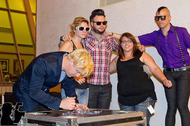 "Fremont Street Experience, Las Vegas Convention and Visitors Authority (LVCVA), hosted a free ""Camp Vegas"" concert by the band Neon Trees on Thursday, August 12 2010"