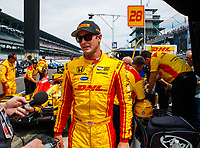 May 26, 2017; Indianapolis, IN, USA; IndyCar Series driver Ryan Hunter-Reay during Carb Day for the 101st Running of the Indianapolis 500 at Indianapolis Motor Speedway. Mandatory Credit: Mark J. Rebilas-USA TODAY Sports