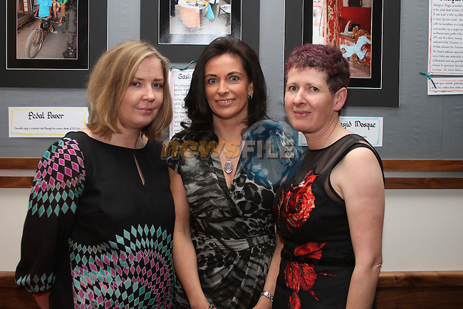 "Gillian Johnston, Monica McKeever and Sheila O'Neill at the Opening of the ""Faces of India"" photography exhibition in Indus Restaurant...(Photo credit should read Jenny Matthews www.newsfile.ie)....This Picture has been sent you under the conditions enclosed by:.Newsfile Ltd..The Studio,.Millmount Abbey,.Drogheda,.Co Meath..Ireland..Tel: +353(0)41-9871240.Fax: +353(0)41-9871260.GSM: +353(0)86-2500958.email: pictures@newsfile.ie.www.newsfile.ie."