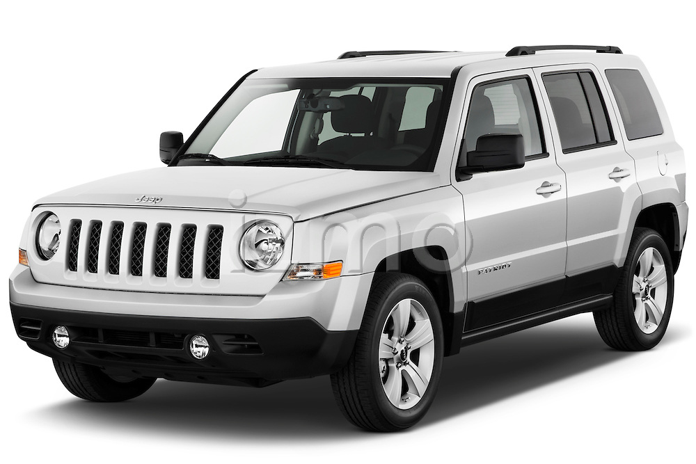 Front three quarter view of a 2012 Jeep Patriot Latitude .