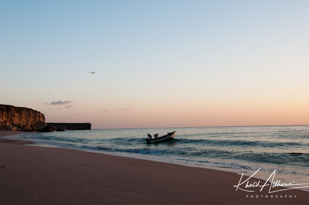 The beautiful of Turtle Beach Ras Al Jinz,Oman